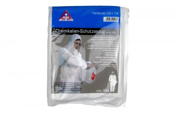 Chemikalien-Schutzanzug, weiss in XL und XXL