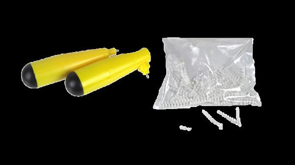 PVC-Kunststoff-Stecknieten weiss Set