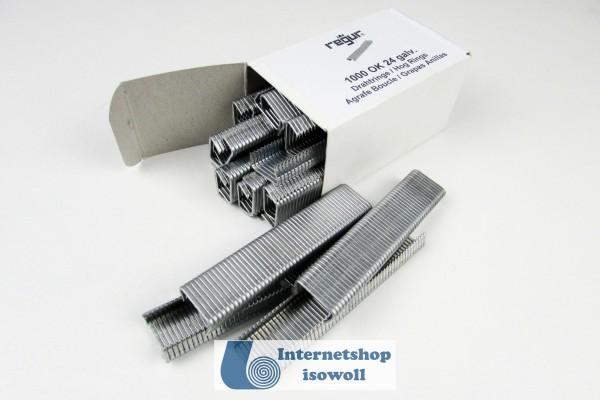 D-Drahtringe REGUR® OK 24 verzinkt, 1000 Stück im Paket