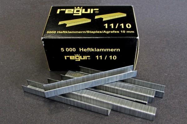 Flachdraht Klammern REGUR® Typ 11/ 10 mm verzinkt, 5000 Stück im Paket
