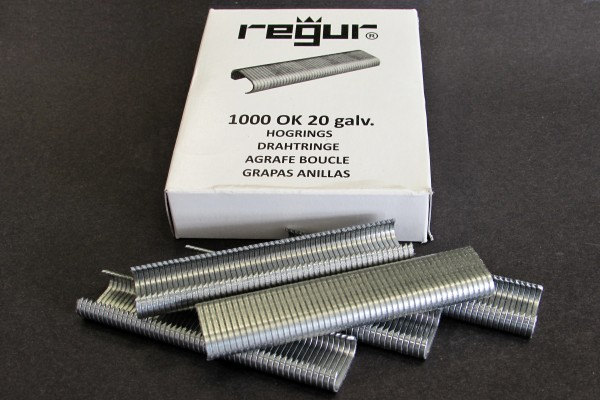 C-Drahtringe REGUR® OK 20 verzinkt, 1000 Stück im Paket